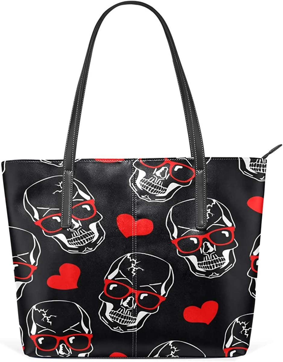 Fashion Skull Limited price sale Red Love Women's Large Bag Tote Lightweight Should depot
