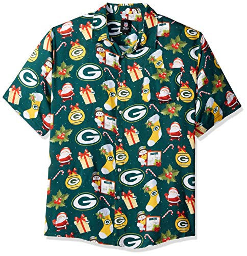 Buffalo Bills NFL Mens Christmas Explosion Button Up Shirt - XXL