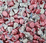 CrazyOutlet HERSHEY'S KISSES Milk Chocolate Candy Silver Pink Foils Mix, It's a Girl Baby Shower - Bulk Pack 2 Lbs