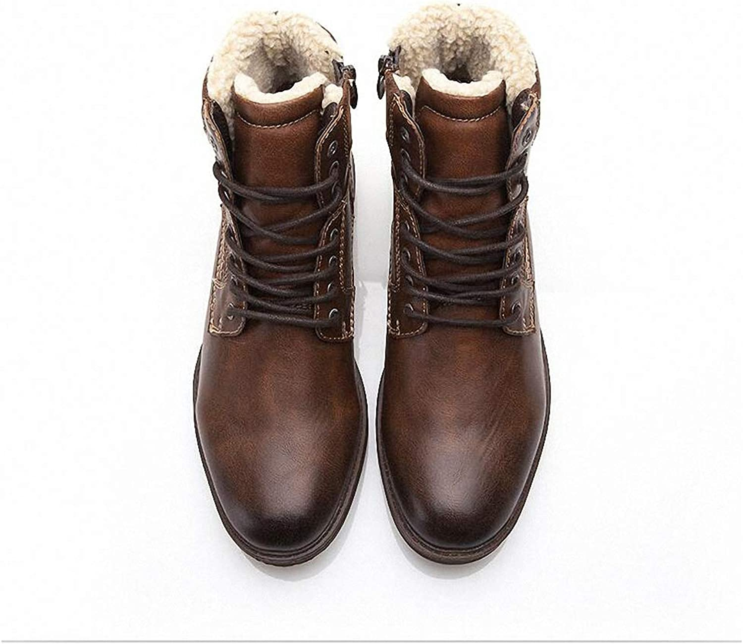 Mens Backpacking Boots Men shoes Autumn Winter Motorcycle Men Boots High-Cut Lace-up Warm Men Casual shoes Fashion