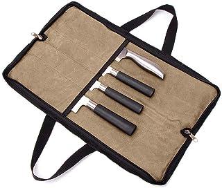 QEES Sacoche à Couteau De Cuisine Etui À Couteaux Vide Porte Couteaux Sac à Couteaux Pour Travail Camping Randonné Pique-n...