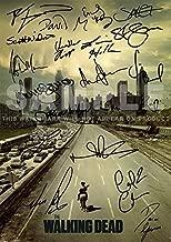 "Iconic Images Large The Walking Dead Tv Print Norman Reedus Andrew Lincoln Jon Bernthal Sarah Wayne Callies Laurie Holden Steven Yeun Robert Kirkman (11.7"" x 16.5"")"