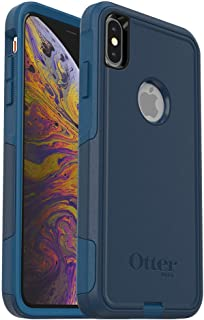 OtterBox COMMUTER SERIES Case for iPhone Xs Max - Retail Packaging - BESPOKE WAY (BLAZER BLUE/STORMY SEAS BLUE) (Renewed)