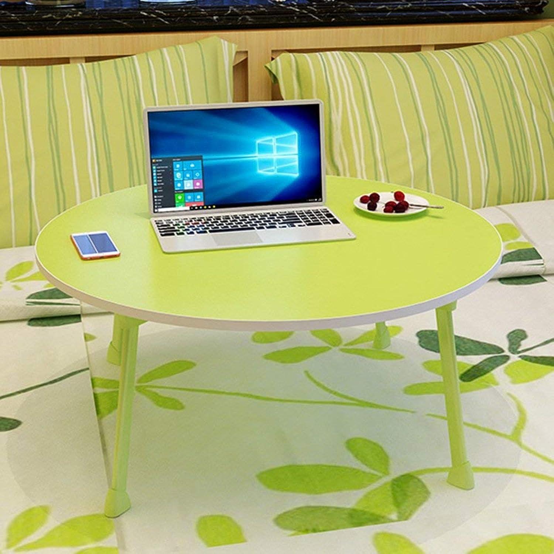 Tienda 2018 WENYAO Escritorio Plegable del Ordenador Ordenador Ordenador de la Mesa Plegable de ZZ Mesa Comedor Mesa de Comedor Plegables rojoondos de los Niños   60  60  28cm (Color  verde)  entrega rápida