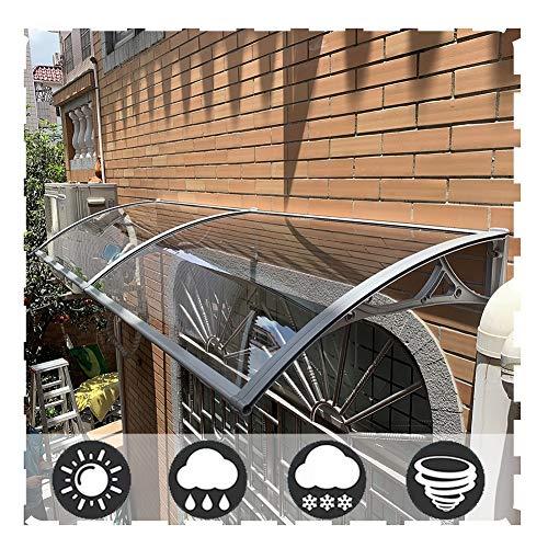 Auvent de Porte Entrée Marquise QIANDA Transparent Polycarbonate Abri Protection Contre La Pluie Poids Léger Et Durable Installer Au-Dessus De La Porte Extérieure (Size : 160cm x 80cm)