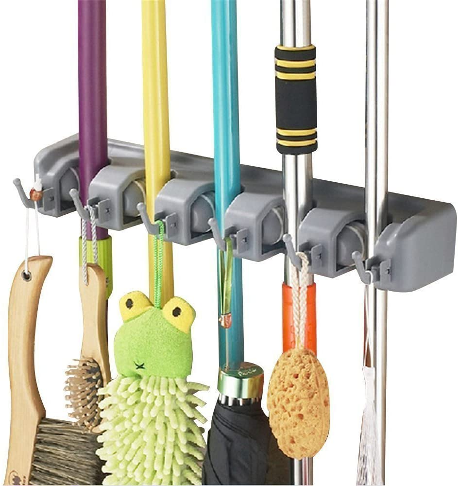 Esup Mop and Broom List price Holder Organizer Your Wall Mounted for Max 64% OFF