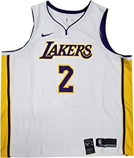 Nike Men Los Angeles Lakers Lonzo Ball #2 Jersey White/Purple/Yellow 877209 107