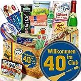 Wilkommen im Club 40 ++ DDR Spezialitäten Geschenkbox ++ Geschenk 40 Geburtstag