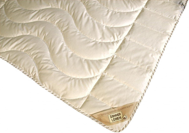 Garanta Bettdecke 220 x 240 950 g g g - Extra Leichtes Sommer Leinen Steppbett - Übergröße B078XF6M43 4c94f0
