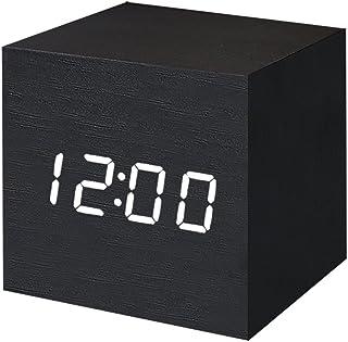 FONCBIEN Despertador Digital LED Madera Mini Reloj gráfico Escritorio Viaje Decoration de casa