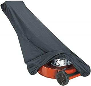 Outdoor Lawn Mower Cover, Waterproof Heavy Duty Push 300D Oxford Rain Protection Dust Cover Universal Fit Walk Behind Mowe...