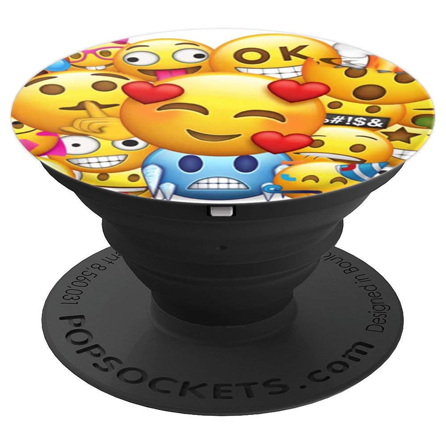 Cute Smiling Purple Devil love funny Emojis emoji emoitico - PopSockets Grip and Stand for Phones and Tablets