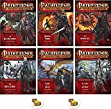 Bundle of Pathfinder Complete Adventure Path Hell's Vengeance 1 to 6 Plus Two Treasure Chest Buttons