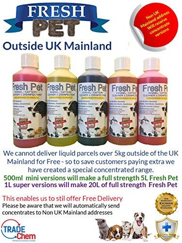 Trade Chemicals Fresh Pet Kennel/Cattery Cleaner & Disinfectant - Kills 99.99% Bacteria - Eliminates Odour (Lemon Fresh) 6