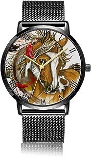 Customized Lollipop Wrist Watch, Black Steel Watch Band Black Dial Plate Fashionable Wrist Watch for Women or Men