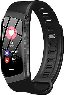 Reloj de pulsera para mujer con medición de la presión arterial, frecuencia cardíaca, presión arterial, deporte, monitor de sueño, paso, calorías, resistente al agua