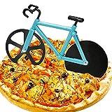 WELLXUNK Cortador de Pizza, Cortapizzas Antiadherente, Corta Pizza Bicicleta, Apto para Hogar y Cocina/Mejor Regalo/Acero Inoxidable/con Soporte (Azul)