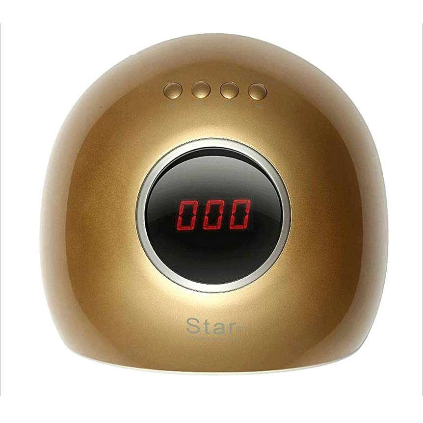 時計吸収ベテランネイル光線療法機 爪乾燥機 - ネイル光線療法ランプ速乾性自動誘導72Wネイルポリッシュ糊乾燥乾燥機光線療法機