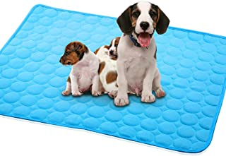 Dog Cooling Mat Pet Cooling Pads Dog Self Cooling Mat Waterproof Bottom Blanket Pad Bed Kennel Mat for Dogs Cats Animal Fl...