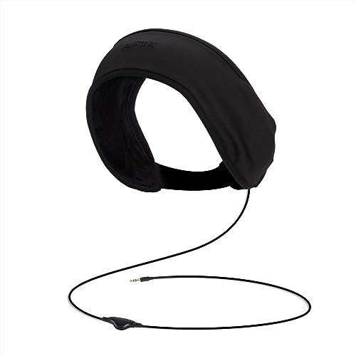 Auriculares de Diadema, AGPTEK ZP02 Antifaz con Audifonos para Dormir, Deportes, Viajes en