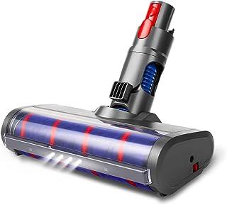 LANMU Soft Roller Cleaner Head for Dyson V7 V8 V10 V11 Vacuum Cleaner, Attachment Cleaning Brush with LED Headlight