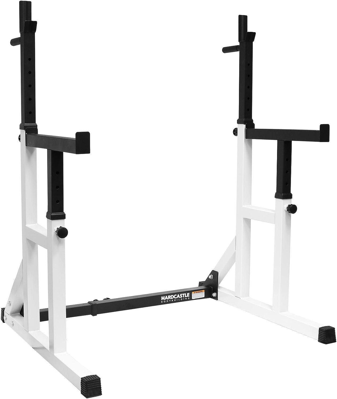 Hardcastle Bodybuilding - Kniebeugenstnder mit Sicherheitsablage und Dip-Barren - verstellbar