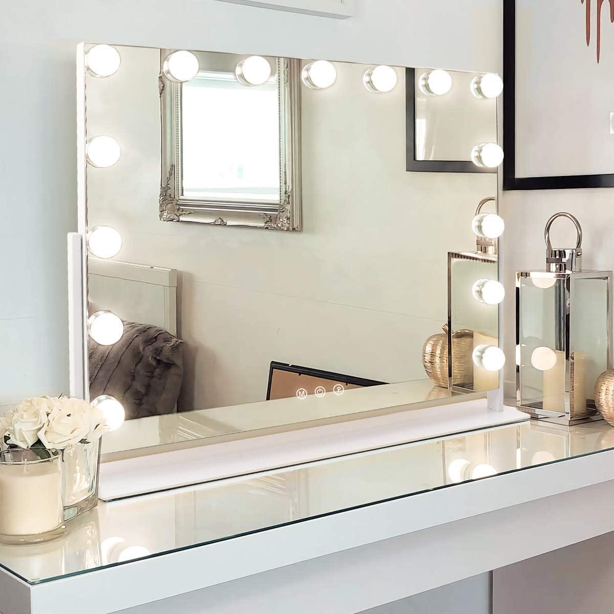 MISAVANITY Large Store Vanity Makeup Mirror Max 66% OFF Lights with Hollywood Make