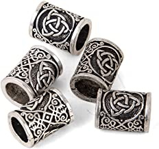 Viking Beard Beads Hair Beads-Viking Hair Beads for Men Diy Beads Celtic Rosary Beads Bearded Dragon Ring Irish Beard Beads Large Viking Beard Beads Metal Beads Celtic Knot Dreadlock Hair Accessories