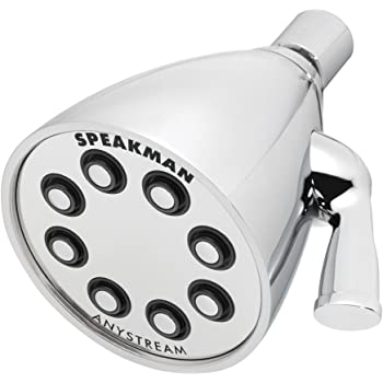 Speakman S-2251 Signature Icon Anystream Adjustable High Pressure Shower Head - 2.5 GPM Solid Brass Replacement Bathroom Showerhead, Polished Chrome