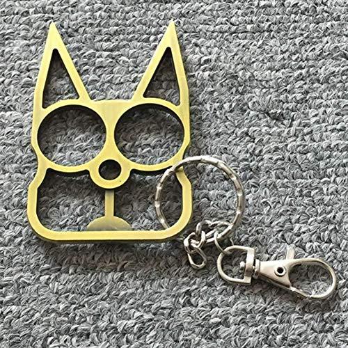 dyudyrujdtry Beste Wahl 1 Teile Süß Katze Schlüsselanhänger für Mädchen Alu Mode Auto Schlüsselanhänger - Beige