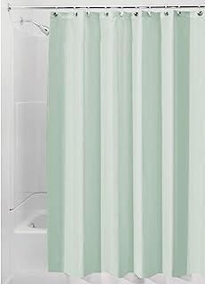 InterDesign Poly SC/Liner Cortina de baño de tela | Cortina impermeable con dobladillo reforzado | Cortina de ducha lavable a máquina, 183,0 cm x 183,0 cm | Poliéster verde mar