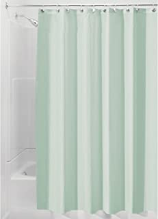 iDesign Fabric Shower Curtain, Mold- and Mildew-Resistant Water-Repellent Bath Liner for Master Bathroom, Kid's Bathroom, Guest Bathroom, 72