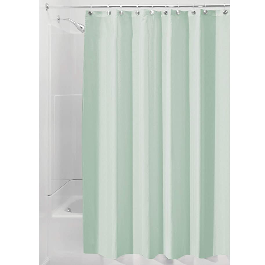 InterDesign Fabric Shower Curtain, Mold-and Mildew-Resistant Water-Repellent Bath Liner for Master, Kid's, Guest Bathroom, 72