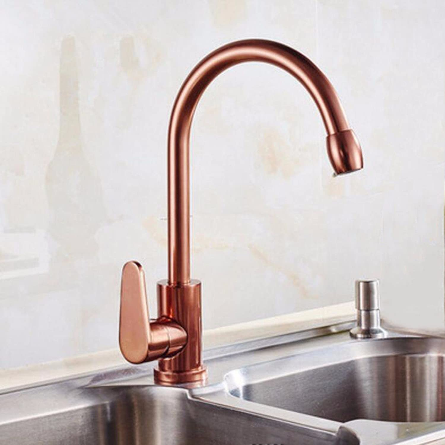 Kitchen faucet Cold And Hot Revolving Kitchen Faucet, Local Tyrant, golden Basin, Basin Head, Black gold, pink gold,B