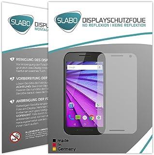 Slabo 4 x skärmskyddsfolie för Motorola Moto G (3. generationen) displayfolie folie tillbehör No Reflexion MATT – spegelnd...