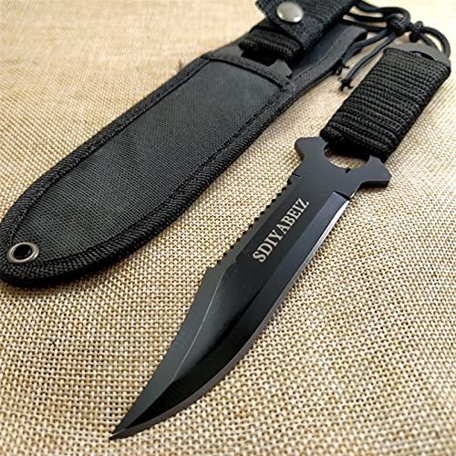 Cuchillo de caza de cuchillas fijas cuchillos de camping cuchillo de bolsillo cuchillo de bolsillo con funda (Color : 2)