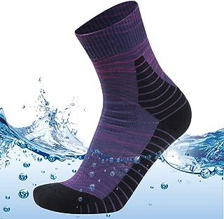 MEIKAN 100% Waterproof Socks,  Unisex Digital Printing Breathable Hiking Trekking Ski Wading Socks