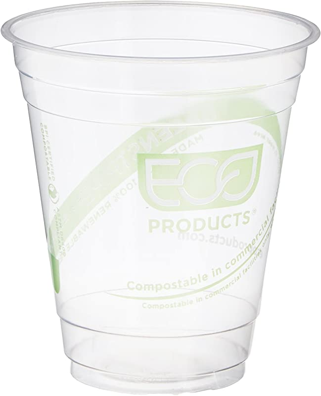 Eco Products ECOEPCC12GSPK GreenStripe Cold Cups Compostable Plastic PLA Pack Of 50