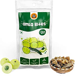 GO DESi Dried Gooseberry (Amla)Bites (280 gm) - Pack of 8 Pouches