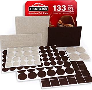 X-PROTECTOR Premium Two Colors Pack Furniture Pads 133...