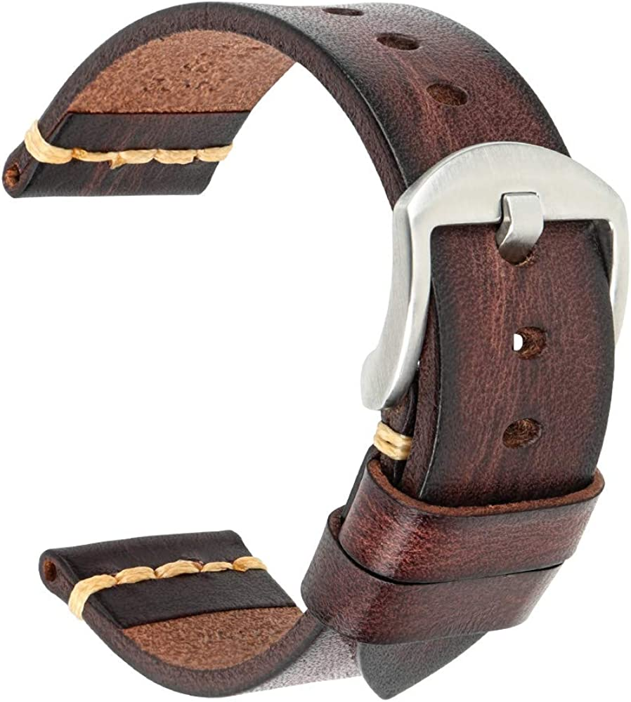 Leather Watch security Band MAIKES Straps 19m Genuine 18mm Seasonal Wrap Introduction