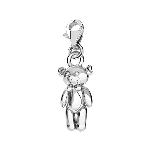 925 Sterling Silver Bear Charm and Pendant