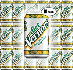Vernors Diet Ginger Soda, 12oz Can (Pack of 18, Total of 216 Oz)