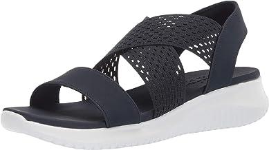 Skechers ULTRA FLEX - NEON STAR - Cross Strap Sling Back Sporty Sandal womens Sport Sandal