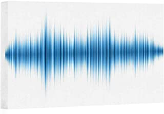 Actorstion Sound Wave Isolated on White Background Canvas Art Wall Decor,109208 Modern Wall Decor/Home Decoration,24