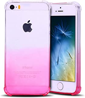 ded201dd939 Anfire Funda iPhone 5 / 5S Silicona Carcasa Transparente Suave Gel TPU  Bumper Tapa Airbag Anti