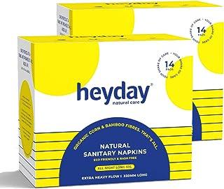 Heyday Organic & Natural All Night Long XXL Sanitary Napkins (28 Pack)