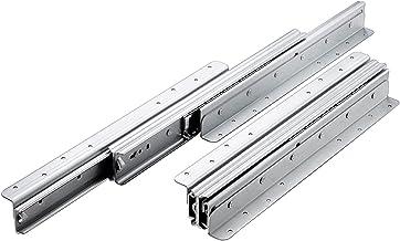 2 STKS Ladedia's, zware dikke metalen driedelige volledig uitgebreide telescopische rails, 1 paar kogellagerglijbanen geïn...