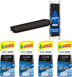 Little Trees CTK-52233-24 16 Pack Vent Wrap New Car Scent (4-Pack), 16 Pack