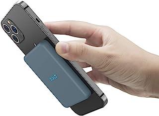 OISLE Magnetisk Qi trådlös powerbank 4225 mAh bärbar laddare kompatibel med iPhone 12/iPhone 13/Mini/Pro/Pro Max-blå